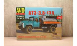 Топливозаправщик АТЗ-3,8-130, сборная модель автомобиля, Автомобиль в деталях (by SSM), scale43, ЗИЛ