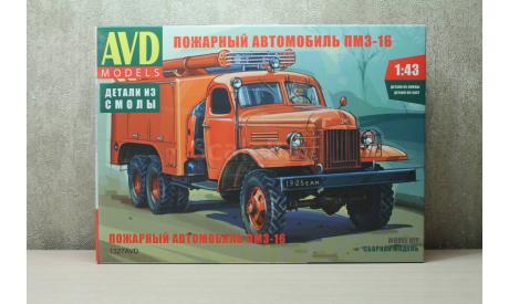Пожарный автомобиль ПМЗ-16 сборная модель, сборная модель автомобиля, Автомобиль в деталях (by SSM), 1:43, 1/43