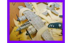1/48 продаю модель самолета Фокке-Вульф Та-154 тяжелого ночного истребителя Германия, масштабные модели авиации, коллекция Новостройки СПб, 1:48
