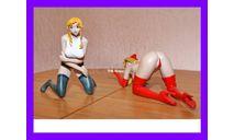 1/8 продажа модели фигуры девушки из комиксов, фигурка, коллекция Новостройки СПб, scale8, фигура солдата