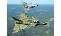 1/48 продажа сборной модели самолета Сааб 37 Вигген Швеция набор Айрфикс 07107, сборные модели авиации, коллекция Новостройки СПб, scale48