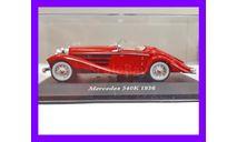 1/43 продажа масштабной модели автомобиля Мерседес-Бенц 540К красный 1936 года выпуска, модель производства Иксо-Алтайа, масштабная модель, коллекция Новостройки СПб, scale43, автомобиль