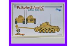 1/35 продажа сборной модели танка Панцер-2С, Панцеркампфваген 2С Т-2С с минным тралом Немецкий африканский корпус Драгон 6752 Кибер-Хобби