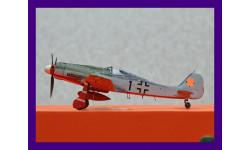 1/48 продаю модель самолета Фоке-Вульф ФВ-190 Д-9 немецкого истребителя времен Второй мировой войны из авиагруппы JV 44, масштабные модели авиации, коллекция Новостройки СПб, scale48