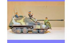 1/35 продаю модель танка 75 мм САУ Ягдпанцер 38Д Хетцер с экипажем, масштабные модели бронетехники, коллекция Дмитрия Стопского, 1:35