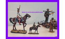 1/16 Продаю миниатюру офицер Польского уланского полка французской гвардии на лошади, Наполеоновские войны, фигурка, фигура солдата, коллекция Новостройки СПб, scale16