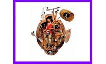 1/32 продажа сборной модели подводной лодки 'Черепаха' Дэвида Бушнела США, сборные модели кораблей, флота, подводная лодка, коллекция Новостройки СПб, 1:32