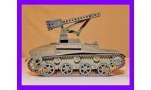 1/35 продажа модели реактивной системы залпового огня БМ 8-24 на базе танка Т-60 СССР 1942 год, масштабные модели бронетехники, коллекция Новостройки СПб, scale35