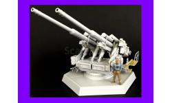 1/35 продажа сборной модели зенитного орудия 128 мм Флак 40 Спаренная орудийная установка Германия 1940-е, масштабные модели бронетехники, коллекция Новостройки СПб, scale35, танк