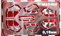 Фототравление Маскот МАЗ-200, фототравление, декали, краски, материалы, АЕМ, scale43