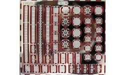 Фототравление набор отражатели для светодиодных фонарей, фототравление, декали, краски, материалы, 1:43, 1/43, АЕМ, УАЗ