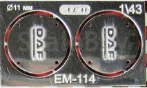 Фототравление заглушка фильтра DAF   никель, фототравление, декали, краски, материалы, 1:43, 1/43, АЕМ, Volvo