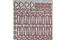 Фототравление Набор кронштейны поручней для ЛАЗ-695Н (НА), фототравление, декали, краски, материалы, 1:43, 1/43, АЕМ