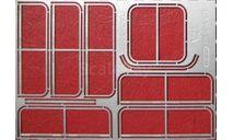 Фототравление Набор рамки форточек для ПАЗ-3205 (НА), фототравление, декали, краски, материалы, АЕМ, scale43