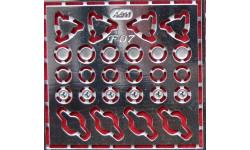 Фототравление для Ferrari 1:43, фототравление, декали, краски, материалы, 1/43, АЕМ