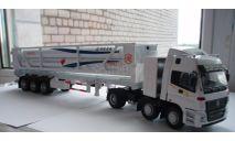 Китайский тягач Foton Auman + полуприцеп - газовоз, 1:50, масштабная модель, China Hand-made Exclusive, scale50