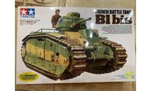 French Battle Tank B1 Bis (Сборная модель от Tamiya), сборные модели бронетехники, танков, бтт, scale35