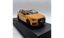Audi RS 3 Limousine year 2016 glow orange 1:43 iScale
