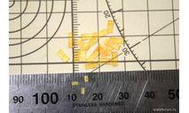 Катафот оранжевый бортовой для грузовиков, автобусов, прицепов. Три А Студио, запчасти для масштабных моделей, 1:43, 1/43