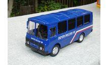 Модель ПАЗ 32053  'Почта России' 1/43 пр-во AUTOTIME, масштабная модель, Autotime Collection, scale43