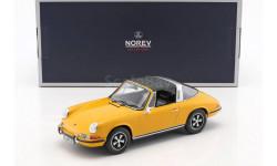 Porsche 911 E Targa 1969 Orange Norev, масштабная модель, 1:18, 1/18