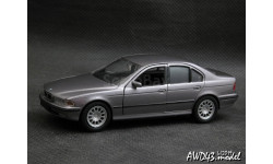 BMW 5-Series E39 1996 grey 1-43 Schabak, масштабная модель, scale43