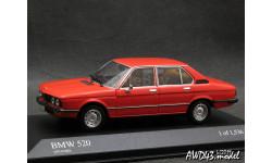 BMW 520i E12 1972 orange 1-43 Minichamps, масштабная модель, 1:43, 1/43