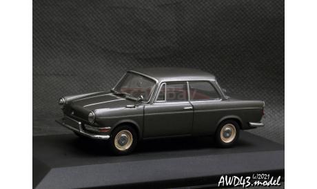 BMW 700 LS 1962-1965 met.grey 1-43 Minichamps 430023700, масштабная модель, Мinichamps, scale43