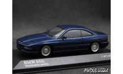 BMW 850i E31 Mauritiusblau Metallic 1-43 Minichamps, масштабная модель, 1:43, 1/43