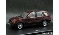 BMW X5 3.0D d.red 4x4 1-43 Dealer=Minichamps
