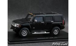 Hummer H3 2006 black 4x4 1-43 Spark, масштабная модель, 1:43, 1/43
