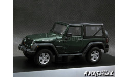 Jeep Wrangler Rubicon 2012 Soft Top d.green 1-43 Greenlight