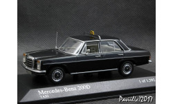 Mercedes 200 D W115 Taxi 1968 black 1-43 Minichamps