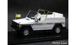 Mercedes 230 GE Papamobil Open white 4x4 1-43 Spark