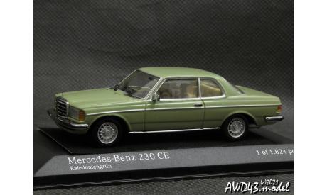 Mercedes 230CE W123 1977 l.green 1-43 Minichamps, масштабная модель, Мinichamps, Mercedes-Benz, scale43