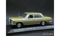Mercedes 300 SEL 6.3 W109 1968-72 gold 1-43 Minichamps
