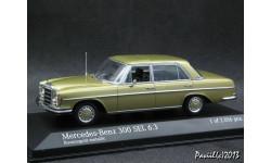 Mercedes 300 SEL 6.3 W109 1968-72 gold 1-43 Minichamps, масштабная модель, 1:43, 1/43, Мinichamps, Mercedes-Benz