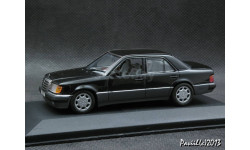 Mercedes 500 E V8 W124 black 1-43 Minichamps