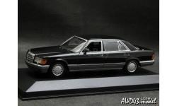 Mercedes 560SEL W126 black 1-43 Maxichamps