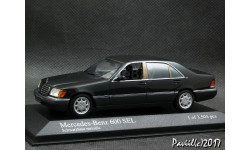 Mercedes 600 SEL 1991 black  1-43 Minichamps