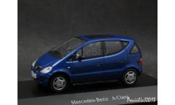 Mercedes A-Klasse A140 blue 1-43 Dealer=Herpa