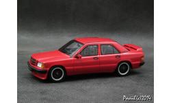 Mercedes Brabus 190E 3.6S 1989 red L.E. 1-43 Minichamps