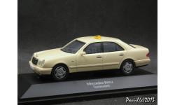 Mercedes E 220 W210 Taxi beige 1-43 Herpa