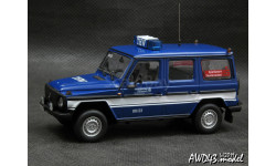 Mercedes G-Class 230GE W460 THW Saarbrucken 1991 blue 1-43 Minichamps 400038091