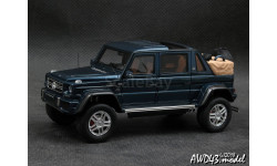 Mercedes G650 Maybach Open roof blue metallic 1-43 GLM207603