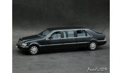 Mercedes S600 Pullman W140 1997 d.blue 1-43 Dealer=Vitesse, масштабная модель, 1:43, 1/43, Mercedes-Benz