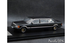 Mercedes SGS Design W126 Royal LWB black 1-43 GLM