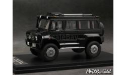 Mercedes Unimog U5000 Wagon black 4x4 1-43 GLM