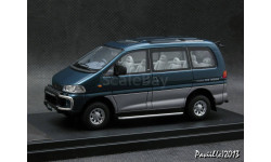 Mitsubishi Delica Space Gear Super Exceed 1994 Astoria Green-Kaiser Silver 4x4 1-43 Hi-Story