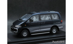 Mitsubishi Delica Space Gear Super Exceed 1994 Moon Light Blue-Kaiser Silver 4x4 1-43 Hi-Story